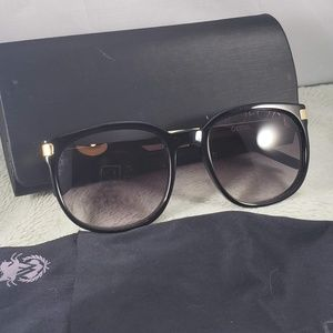 Wildfox Geena Black and Gold Sunglasses